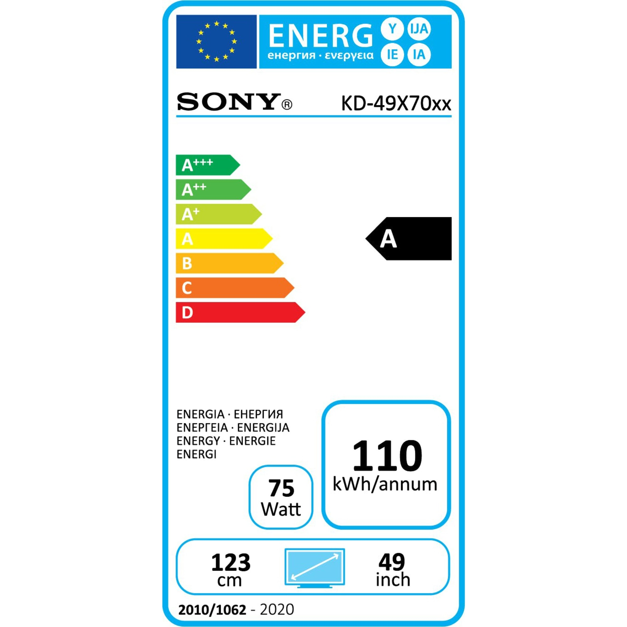 "Sony Ultra HD Smart TV 49"" KD49X7055BAEP"